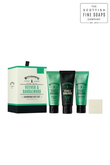 Scottish Fine Soaps Vetiver & Sandalwood Luxurious Gift Set
