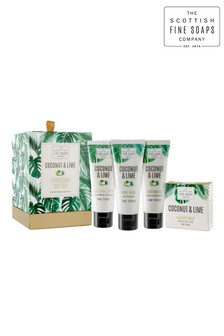 Scottish Fine Soaps Coconut & Lime Luxurious Gift Set