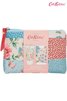 Cath Kidston Cottage Patchwork Cosmetic Pouch with Hand Cream and Hand Sanitiser