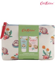 Cath Kidston Gardeners Club Cosmetic Pouch with Hand Cream and Hand Sanitiser