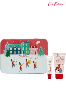 Cath Kidston Christmas Village Hand and Lip Tin with Hand Cream and Lip Balm