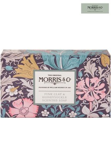 Morris & Co Pink Clay and Honeysuckle Scented Soap