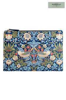Morris & Co Strawberry Thief Large Velvet Clutch