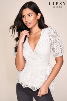 Lipsy Lace Wrap Blouse