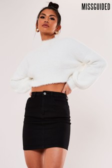 Missguided Denim Super Stretch Mini Skirt