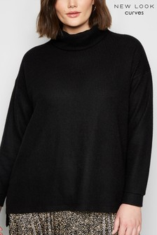 New Look Curve Fine Knit Roll Neck Jumper