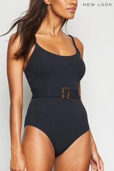 New Look Belted Square Buckle Swimsuit