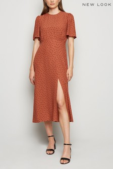 New Look Split Hem Midi Dress