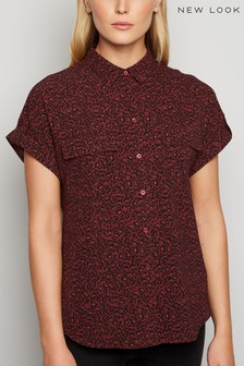 New Look Leopard Print Short Sleeve Shirt