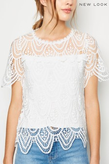New Look Crochet T-Shirt