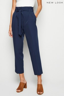 New Look High Waist Paperbag Trousers