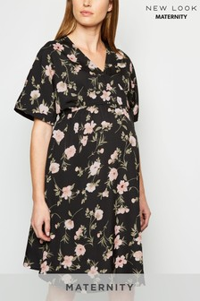 New Look Maternity Floral Wrap Dress