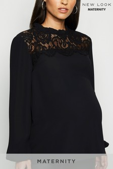 New Look Maternity Lace Panel Shell Top