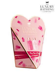 The Luxury Bathing Company Hearts Desire - 50ml Body Wash, 50ml Body Cream
