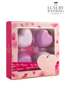 The Luxury Bathing Company In Love - 4 x 45g Bath Fizzers