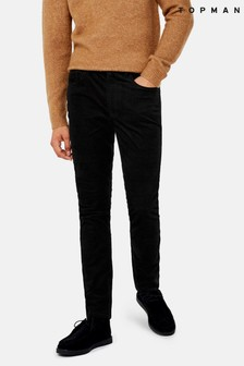 Topman Corduroy Stretch Skinny Trousers