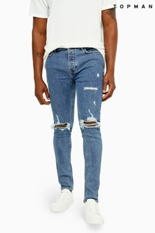 Topman Blowout Stretch Skinny Jeans