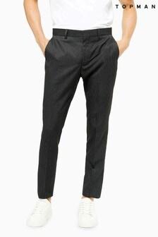 Topman Pinstripe Skinny Fit Suit Trousers