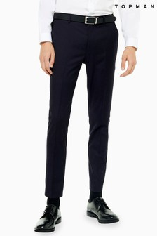 Topman Pin Dot Skinny Fit Suit Trousers