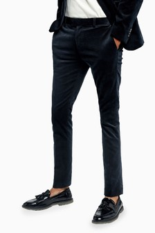 Topman Corduroy Super Skinny Fit Suit Trousers