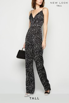 New Look Tall Satin Strappy Jumpsuit