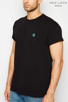 New Look Globe Embroidered T-Shirt