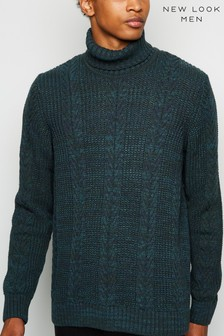 New Look Cable Knit Roll Neck Jumper