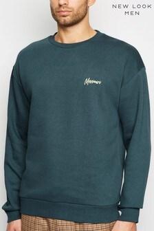 New Look Dark Green Missouri Embroidered Slogan Sweatshirt
