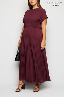 New Look Curve Pleated Maxi Dress