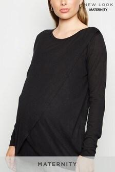New Look Maternity Long Sleeve Wrap Nursing Top