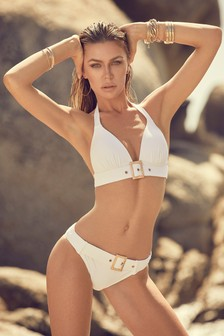 Abbey Clancy x Lipsy Buckle Bikini Bottoms