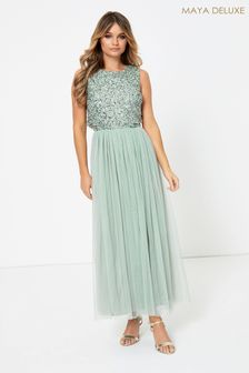 Maya Sleeveless Sequin Maxi Dress