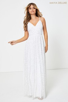 Maya Cami Sequin Maxi Bridal Dress