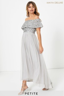 Maya Petite Embellished Bardot Maxi Dress