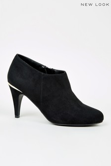 New Look Suedette Metal Trim Shoe Boots