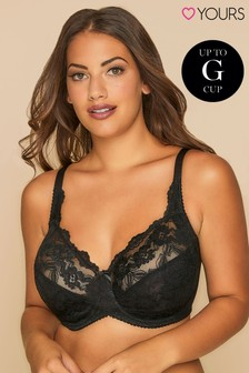 Yours Curve Non-Wired Cotton Bra With Lace Trim DD+