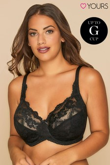 Yours Curve Stretch Lace Non Padded Wired Bra DD+