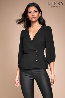 Lipsy Button Detail Wrap Top