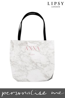 Personalised Lipsy Marble Tote Bag By Instajunction