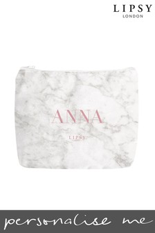 Personalised Lipsy Marble Make Up Bag By Instajunction