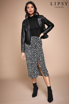 Lipsy Spot Ruched Skirt