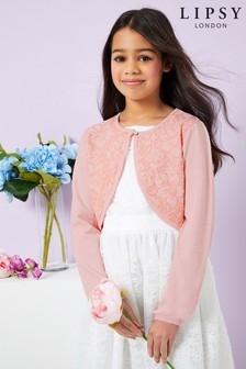Lipsy Girl Lace Front Cardigan