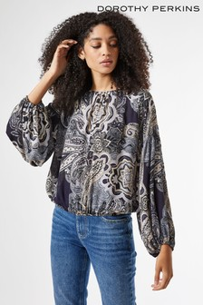 Dorothy Perkins Paisley Balloon Sleeve Top