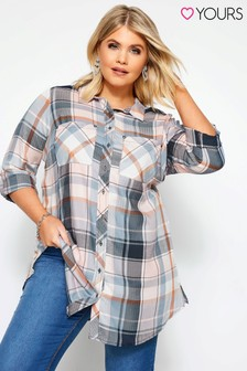 Yours Curve Check Shirt