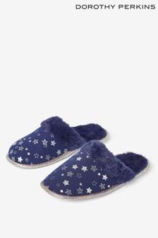 Dorothy Perkins Foil Star Mule Slippers