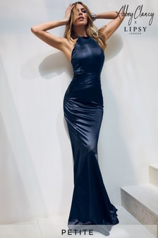 Abbey Clancy x Lipsy Petite Satin Bandage Maxi Dress