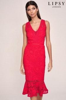Abbey Clancy x Lipsy Lace Bodycon Dress