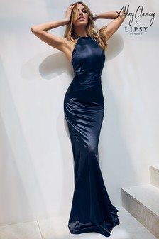 Abbey Clancy x Lipsy Satin Bandage Maxi Dress