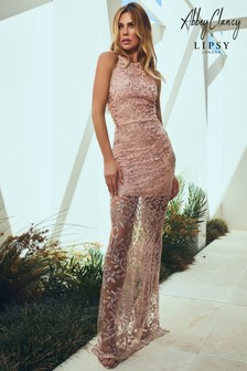 Abbey Clancy x Lipsy Embroiderd Maxi Dress
