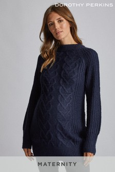 Dorothy Perkins Maternity Cable Knit Tunic